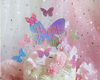 Glitter butterfly Cake topper and dessert decorations