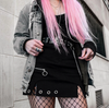 CK41 Cool punk skirt with chain