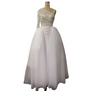 High Collar One Shoulder Pearls Beadings Wedding gown