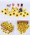100pcs/lot 4cm Mini Sunflower Head For DIY Wedding,Home, Scrapbooking