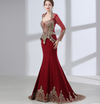 Arabic Long Sleeve  Mermaid Evening Dresses(Red/Green)