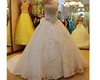 CW42 Crystal Beaded Lace Wedding Dress