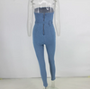 JR42 Sexy Bodycon denim jumpsuit