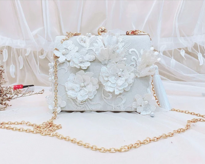 CB106 Floral Prom Clutch Bags(2 Colors)