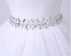 CW55 Classy sweetheart Bridal dress with beaded belt