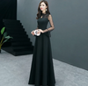 PP203 :2 Styles Simple Black Prom Gowns