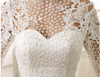 SS26 high Neck Lace Stain Short Wedding Dress