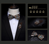 63 Feather Styles Set of Bow tie+Brooch for Grooms
