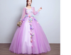 CG27 Plus Size Floral 3D Light Blue Ball Gowns