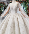 Luxury wedding dresses with long cape