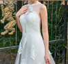 CW74  Real Photo Scoop neck sleeveless wedding dress