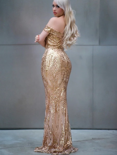 Sexy sequined maxi dresses(Gold/White/Green/Blue)