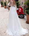 CW224 New Design Puff Sleeves Bridal Dress