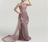 LG99 : 2 Styles Pearls beaded Evening Gowns