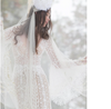 CW85 Plus size lace long sleeves  Boho Wedding gown