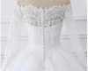 CW106 Real Photo off the shoulder lace Wedding gown