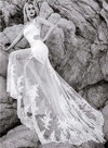 CW245 Beach Wedding Dress with detachable train