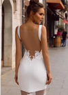 Minimalist Illusion Back Boho Wedding Dress