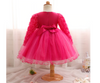 FG17 Long Sleeve lace toddler girl dresses ( 3 Colors)
