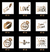 10pc/lot  team brides tattoo for Bachelorette Party