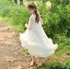 FG203 Ruffle Flower Girls Dresses(White/Pink)