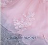 CG39  Plus size Pink Tulle with Lace Appliques Quinceanera Dress