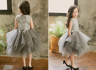 FG205 Sleeveless lace Princess Girl Dress