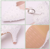 BS27 Sweet White Lace  flower Wedding Shoes