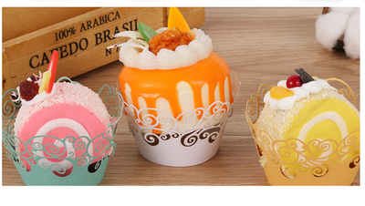Lace laser cup Cupcake wrapper for DIY Wedding and Birthday Party