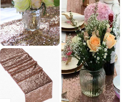 Sparkly Sequins Table Runner for DIY Wedding & Party Decoration