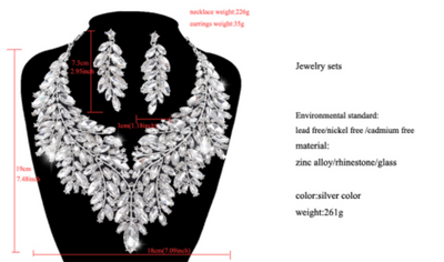 BJ336 Luxurious Wedding Jewelry sets (6 Colors)