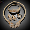 BJ97 Plant shape Bridal Jewellery set Necklace+Bracelet+Earrings+Ring