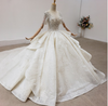 Real Photo handmade short sleeves sequin Bridal Gown