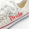 BS31 Personalize name pearls Beaded Bridal Sneakers