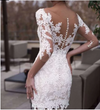 SS75 Lace Half Sleeves Mini Bridal Gowns