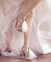 BS118 Fur Rhinestone Bridal Shoes