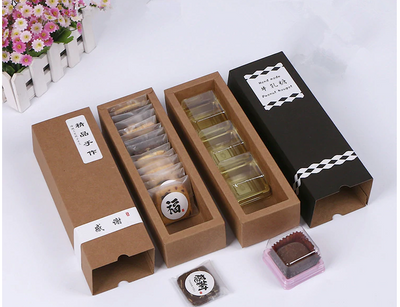 100 pcs Kraft Wedding Gift Box (Macaron , Chocolate , Cookie etc )