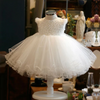 FG208 White flower tutu infant girl dresses( 1-6 yrs)