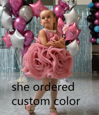 FG209 Puffy Ruffles ball gown Baby Girl outfits
