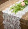 White Lace Table Runner for Wedding Decoration