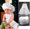 Infant Chef costume Photography Props(Hat+Apron)