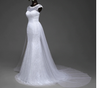 CW125 : Real photo 2in1 Mermaid Wedding dress with detachable train