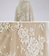 Cheap Plus Size Sleeves Lace  Prom Dress