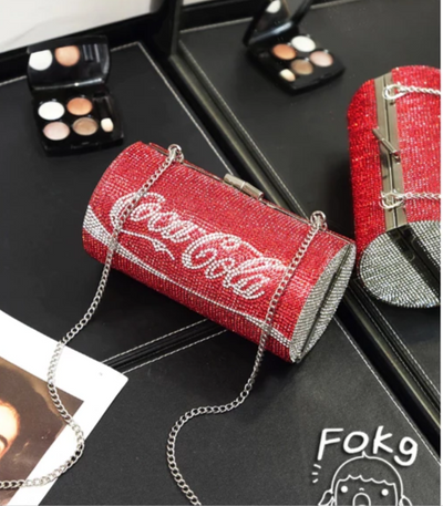 CB125 Chic Diamonds Coca cola Can Shape Evening Clutch Bags(4 Styles)