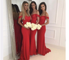 BH187 Plus size Mermaid Long Bridesmaid Dresses for wedding party