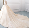 Luxury vintage high Neck tassel ball gown Wedding Dress