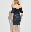 LG46 Dark Blue sequins Cocktail Dress