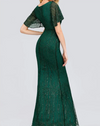 PP230 Sparkle Mermaid Evening Dresses( Dark Green/Dark Green)