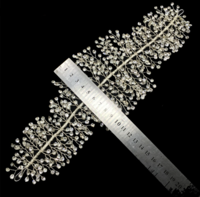 Handmade Rhinestones Wedding Headband
