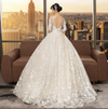CW112 Real Picture long sleeves lace wedding Dress